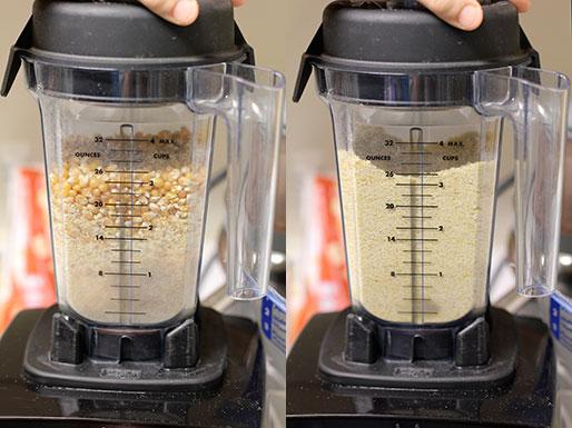 DIY cornmeal: Processing